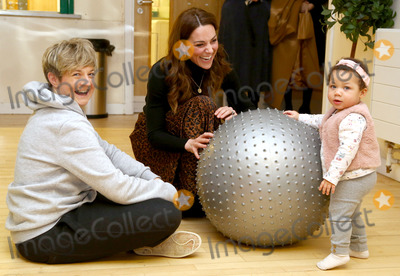 Estelle Photo - 22012020 - Kate Middleton Duchess of Cambridge Katherine Middleton chats with mother Estell Courlenr and her daughter India Courlen Mayvow during a visit to Ely and Caerau Childrens Centre in Cardiff South Wales as she launches a UK wide survey to help improve early childhood Photo Credit ALPRAdMedia