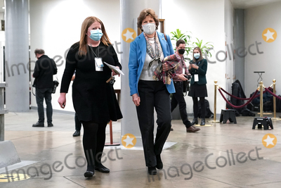 Jeanne Shaheen Photo - Sen Jeanne Shaheen (D-NH) arrives at the Capitol on Wednesday February 10 2021 for the second day of the impeachment trial of former President Donald TrumpCredit Greg Nash - Pool via CNPAdMedia