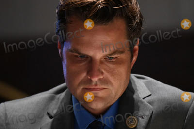 Train Photo - United States Representative Matt Gaetz (Republican of Florida) listens during a US House Judiciary Committee markup on HR 7120 the Justice in Policing Act of 2020 in Washington DC US on Wednesday June 17 2020 The House bill would make it easier to prosecute and sue officers and would ban federal officers from using choke holds bar racial profiling end no-knock search warrants in drug cases create a national registry for police violations and require local police departments that get federal funds to conduct bias training Credit Erin Scott  Pool via CNPAdMedia