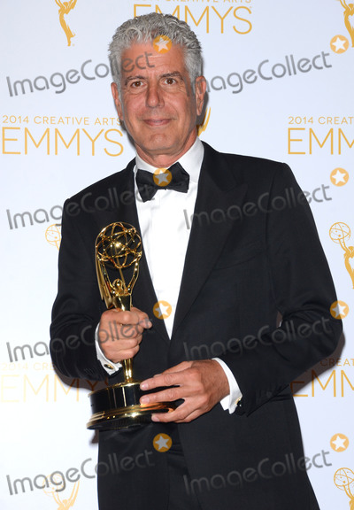 Anthony Bourdain Photo - 08 June  2018 -  Anthony Bourdain the TV celebrity and food writer who hosted CNNs  Parts Unknown was found dead in his hotel room File Photo 16 August 2014 - Los Angeles California - Anthony Bourdain Winners of the 2014 Creative Arts Emmy Awards press room held at Nokia Theater LA LIVE in Los Angeles Ca Photo Credit Birdie ThompsonAdMedia