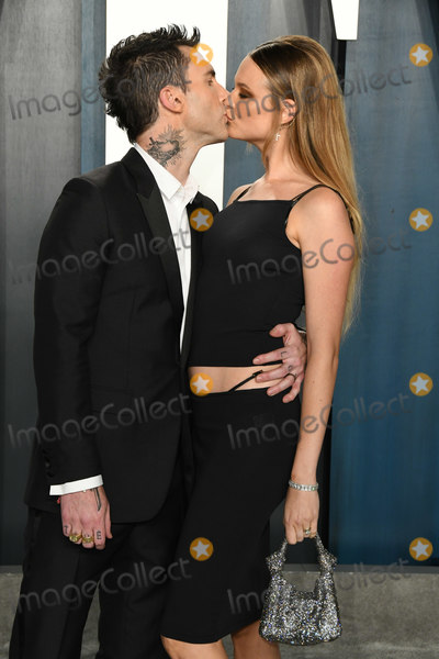 Adam Levine Photo - 09 February 2020 - Los Angeles California - Behati Prinsloo Adam Levine 2020 Vanity Fair Oscar Party following the 92nd Academy Awards held at the Wallis Annenberg Center for the Performing Arts Photo Credit Birdie ThompsonAdMedia