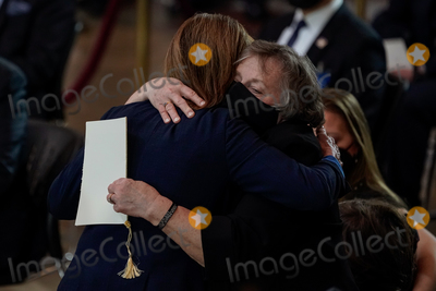 Representative Nancy Pelosi Photo - Speaker of the United States House of Representatives Nancy Pelosi (Democrat of California) embraces Shannon Evans mother of US Capitol Police officer William Billy Evans during a lying in honor ceremony on the Capitol Hill in Washington on Tuesday April 13 2021 Credit Amr Alfiky  Pool via CNPAdMedia