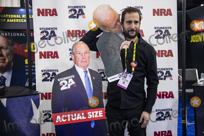 Mayor Michael Bloomberg Photo - OXON HILL Md - FEBRUARY 27 New York Post reporter Jon Levine stands with cut outs of Democratic Presidential hopefuls former New York City Mayor Michael Bloomberg and former US Vice President Joe Biden at the Conservative Political Action Conference CPAC 2020 in Oxon Hill Md on Thursday February 27 2020Credit Samuel Corum  CNPAdMedia