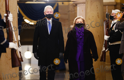President Bill Clinton Photo - Former President Bill Clinton (L) and former Secretary of State Hillary Clinton arrive in the Crypt of the US Capitol for President-elect Joe Bidens inauguration ceremony to be the 46th President of the United States in Washington DC USA 20 January 2021AdMedia