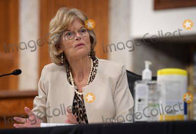 Alaska  Photo - United States Senator Lisa Murkowski (Republican of Alaska) of the Senate Health Education Labor and Pensions (HELP) Committee asks questions during a hearing on Capitol Hill in Washington DC on Tuesday June 30 2020  Dr Anthony Fauci director of the National Institute for Allergy and Infectious Diseases and other government health officials updated the Senate on how to safely get back to school and the workplace during the COVID-19 pandemicCredit Kevin DietschCNPAdMedia