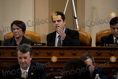 Alabama Photo - United States Representative Matt Gaetz (Republican of Florida) speaks during a public impeachment inquiry hearing with the US House Judiciary Committee on Capitol Hill in Washington DC on December 9th 2019  At left is US Representative Martha Roby (Republican of Alabama)Credit Anna Moneymaker  Pool via CNPAdMedia