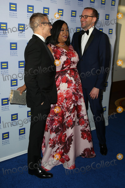 Michael Lombardo Photo - 14 March 2015 - Los Angeles California - Michael Lombardo Shonda Rhimes Chad Griffin 2015 HRC Los Angeles Gala Photo Credit F SadouAdMedia