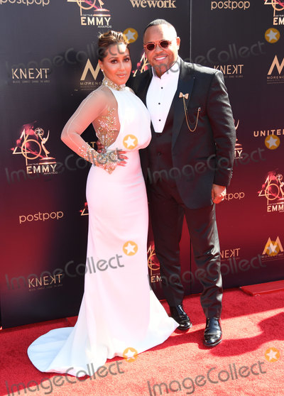 Adrienne Houghton Photo - 03 May 2019 - Pasadena California - Adrienne Bailon Adrienne Houghton Israel Houghton 46th Annual Daytime Creative Arts Emmy Awards - Arrivals held at Pasadena Civic Center Photo Credit Birdie ThompsonAdMedia