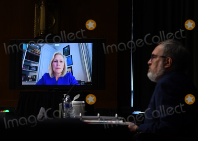 Andrew Wheeler Photo - United States Senator Kirsten Gillibrand (Democrat of New York) asks questions at a hearing titled Oversight of the Environmental Protection Agency before the US Senate Environment and Public Works Committee in the Dirksen Senate Office Building on Wednesday May 20 2020 in Washington DC EPA Administrator Andrew Wheeler will be asked about the rollback of regulations by the Environment Protection Agency since the pandemic started in March      Credit Kevin Dietsch  Pool via CNPAdMedia
