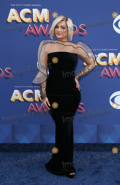 Bebe Rexha Photo - 15 April 2018 - Las Vegas NV - Bebe Rexha  2018 ACM Awards Red Carpet arrivals at MGM Grand Garden Arena Photo Credit MJTAdMedia
