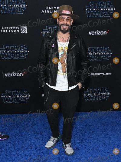 AJ MCLEAN Photo - 16 December 2019 - Hollywood California - AJ McLean  Disneys Star Wars The Rise Of Skywalker Los Angeles Premiere held at Hollywood Photo Credit Birdie ThompsonAdMedia