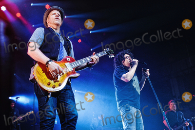 Adam Duritz Photo - 12 May 2015 - Hamilton Ontario Canada  Dan Vickrey (guitarist) Adam Duritz (vocalist) David Immergluck (guitarist) and Charlie Gillingham (keyboardist) of Counting Crows perform on stage at Hamilton Place Theatre Photo Credit Brent PerniacAdMedia