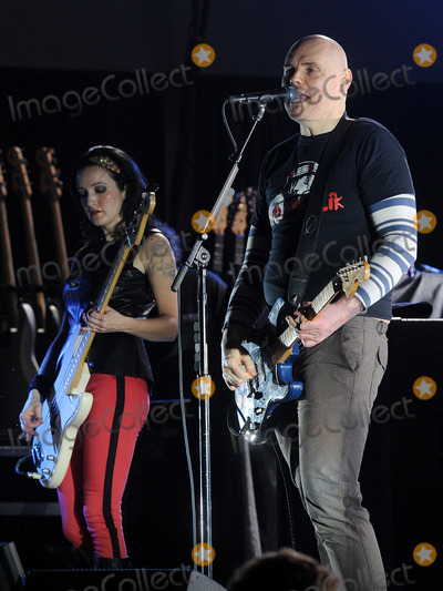 Smashing Pumpkins Photo - 06 December 2012 - Pittsburgh PA - Vocalistguitarist BILLY CORGAN and bassist NICOLE FLORENTINO of the alternative rock band SMASHING PUMPKINS performs at a stop on their Oceania Tour 2012  held at Stage AE  Photo Credit Jason L NelsonAdMedia