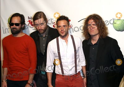 The Killers Photo - 08 June 2011 - Las Vegas Nevada - The Killers  The Beatles LOVE by Cirque du Soleil Fifth Anniversary Celebration at The Mirage  Photo Credit MJTAdMedia