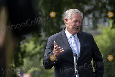 House Speaker Nancy Pelosi Photo - Mark Meadows White House Chief of Staff speaks to members of the media following a television interview outside the White House in Washington DC US on Friday August 28 2020  Meadows stated that the White House has offered House Speaker Nancy Pelosi a 13 trillion stimulus package that President Donald Trump would sign today and stated that the talks remain stalled due to her reluctance to compromise  Credit Stefani Reynolds  Pool via CNPAdMedia