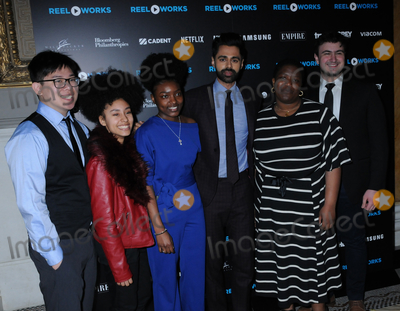 YES Photo - 16 April 2019 - New York New York - Wei Ye Ng Faith Mora Deborah Miller Hasan Minhaj Osa Adv and Gabe Fanelli at the REEL WORKS Benefit Gala at Capitale in Chinatown Photo Credit LJ FotosAdMedia