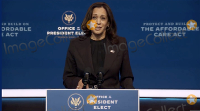 Queen Photo - In this image from the Biden Presidential Transition video feed United States Vice President-elect Kamala Harris makes a statement on the Affordable Care Act at the Queen Theatre in Wilmington Delaware on Tuesday November 10 2020Credit Biden Presidential Transition via CNPAdMedia
