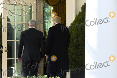 Benjamin Netanyahu Photo - United States President Donald J Trump and Benjamin Netanyahu Prime Minister of the State of Israel enter the Oval Office for a meeting at the White House in Washington DC US on Monday January 27 2020Credit Stefani Reynolds  CNPAdMedia