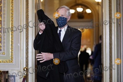 Angus King Photo - Sen Angus King I-Maine arrives for the second impeachment trial of former President Donald Trump in the Senate at the Capitol in Washington Tuesday Feb 9 2021 Credit Andrew Harnik   Pool via CNPAdMedia