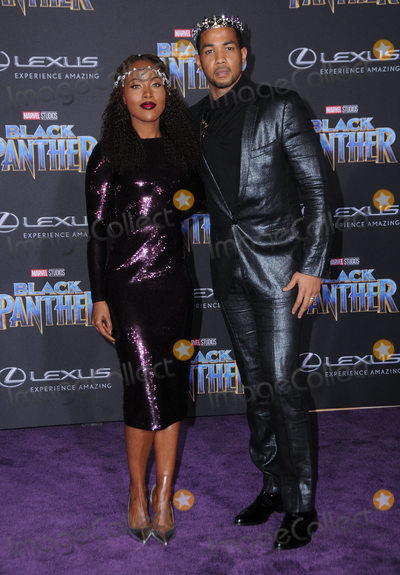 Alano Miller Photo - 29 January 2018 - Hollywood California - DeWanda Wise Alano Miller Marvel Studios Black Panther World Premiere held at Dolby Theater Photo Credit Birdie ThompsonAdMedia