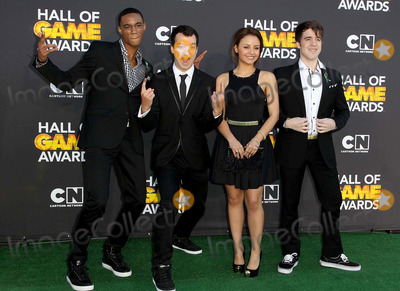 Aimee Carrero Photo - 09 February 2013 - Santa Monica California - Jessie Usher Gaelan Connell Aimee Carrero Connor Del Rio Cartoon Network 3rd Annual Hall Of Game Awards held at Barker Hangar Photo Credit Kevan BrooksAdMedia