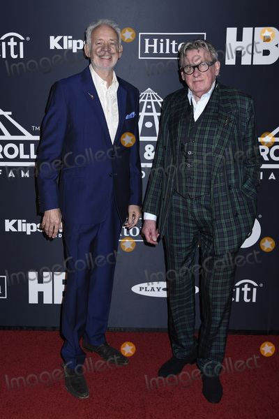 Andy Mackay Photo - 29 March 2019 - Brooklyn New York - Phil Manzanera and Andy Mackay at the Rock  Roll Hall of Fame Induction Ceremony arrivals at the Barclays Center Photo Credit LJ FotosAdMedia