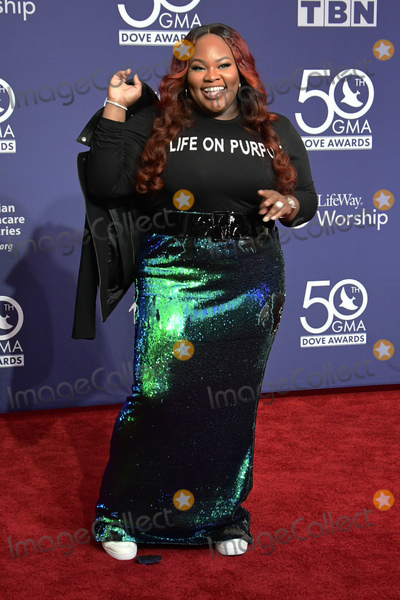 Tasha Cobbs Photo - 15 October 2019 - Nashville Tennessee - Tasha Cobb 50th Annual GMA Dove Awards held at Lipscomb University Photo Credit Dara-Michelle FarrAdMedia