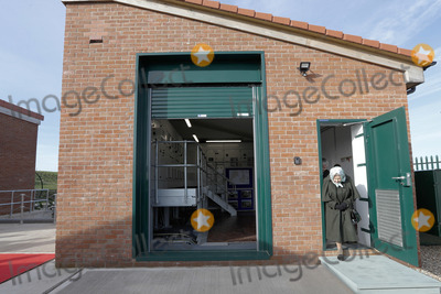 Queen Elizabeth II Photo - 05022020 - Queen Elizabeth II leaves the building after pressing the button to start the pumps during her visit to Wolferton Pumping Station in Norfolk Photo Credit ALPRAdMedia
