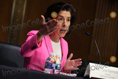 Pete Buttigieg Photo - WASHINGTON DC - APRIL 20 United States Secretary of Commerce Gina Raimondo testifies before the US Senate Appropriations Committee during a hearing in the Dirksen Senate Office Building on Capitol Hill on April 20 2021 in Washington DC Biden cabinet members including Transportation Secretary Pete Buttigieg testified about the American Jobs Plan the administrations 23 trillion infrastructure plan that has yet to win over a single Republican in Congress Credit Chip Somodevilla   Pool via CNP