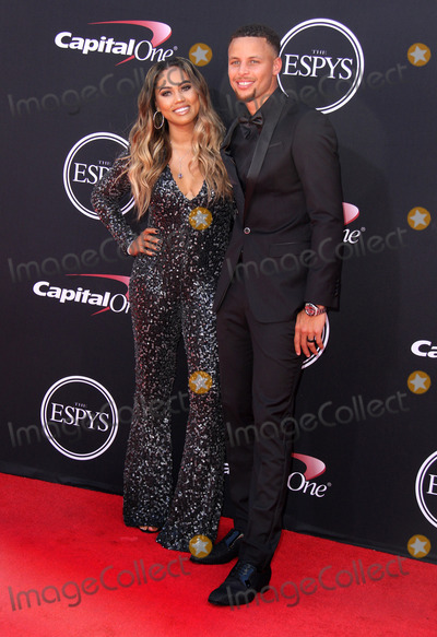 Steph Curry Photo - 12 July 2017 - Los Angeles California - Steph Curry with wife Ayesha Curry 2017 ESPYS Awards Arrivals held at the Microsoft Theatre in Los Angeles Photo Credit AdMedia