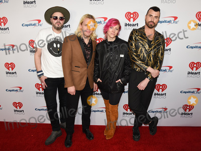 Neon Trees Photo - 18 January 2020 - Hollywood California - Branden Campbell Chris Allen Elaine Bradley Tyler Glenn Neon Trees iHeartRadio ALTer EGO 2020 Presented by Capital One held at The Forum Photo Credit Billy BennightAdMedia