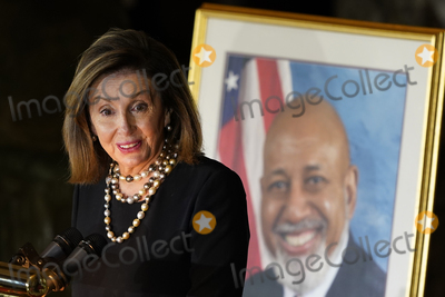 Alcee Hastings Photo - Speaker of the United States House of Representatives Nancy Pelosi (Democrat of California) speaks during a Celebration of Life for US Representative Alcee Hastings (Democrat of Florida) in Statuary Hall on Capitol Hill in Washington Wednesday April 21 2021 Hastings died earlier this month aged 84 following a battle with pancreatic cancerCredit Susan Walsh  Pool via CNPAdMedia