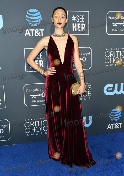 Emmy Rossum Photo - 13 January 2019 - Santa Monica  California - Emmy Rossum  The 24th Annual Critics Choice Awards held at Barker Hangar Photo Credit Birdie ThompsonAdMedia