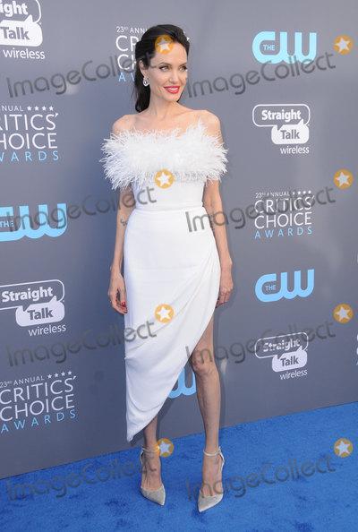 ANGELINA JOLIE Photo - 11 January 2018 - Santa Monica California - Angelina Jolie  23rd Annual Critics Choice Awards held at Barker Hangar Photo Credit Birdie ThompsonAdMedia