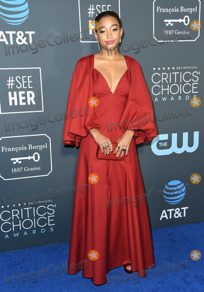 Amandla Stenberg Photo - 13 January 2019 - Santa Monica California - Amandla Stenberg The 24th Annual Critics Choice Awards held at Barker Hangar Photo Credit Birdie ThompsonAdMedia
