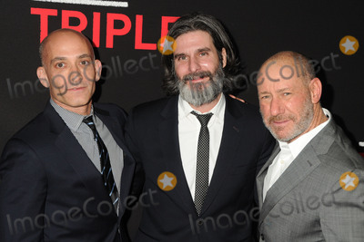 ANTHONY KATAGAS Photo - 16 February 2016 - Los Angeles California - Marc Mutan Anthony Katagas Steve Golin Triple 9 Los Angeles Premiere held at Regal Cinemas LA Live Photo Credit Byron PurvisAdMedia