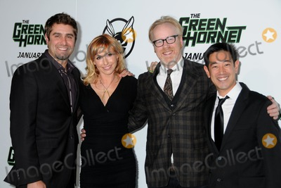 Adam Savage Photo - 10 January 2011 - Hollywood California - Tory Belleci Kari Byron Adam Savage and Grant Imahara The Green Hornet Los Angeles Premiere held at Graumans Chinese Theatre Photo Byron PurvisAdMedia