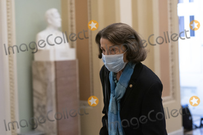 Senator Dianne Feinstein Photo - United States Senator Dianne Feinstein (Democrat of California) departs during a break from the US Senate Proceedings during the Second Impeachment Trial of US President Trump Credit Chris Kleponis - Pool via CNPAdMedia