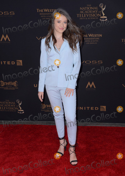 Addison Holley Photo - 29 April 2016 - Los Angeles California - Addison Holley Arrivals for the 43rd Annual Daytime Creative Arts Emmy Awards held at the Westin Bonaventure Hotel and Suites Photo Credit Birdie ThompsonAdMedia