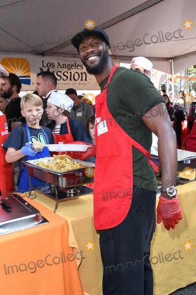 Aldis Hodges Photo - 21 November 2018 - Los Angeles California - Aldis Hodge 2018 LA Mission Thanksgiving held at LA Mission Photo Credit Birdie ThompsonAdMedia