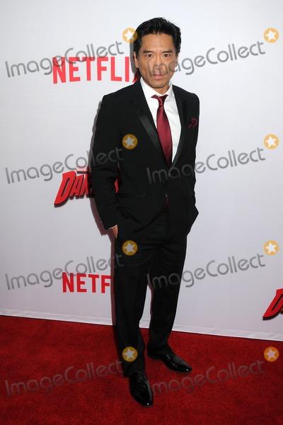 Peter Shinkoda Photo - 2 April 2015 - Los Angeles California - Peter Shinkoda Marvels Daredevil Los Angeles Season Premiere held at Regal Cinemas LA Live Photo Credit Byron PurvisAdMedia