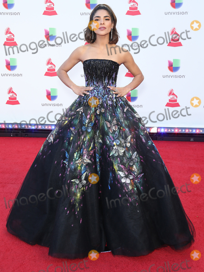 Alejandra Espinoza Photo - 15 November 2018 - Las Vegas NV - Alejandra Espinoza  2018 Latin Grammy arrivals at MGM Grand Garden Arena Photo Credit MJTAdMedia