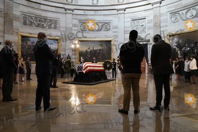 Alabama Photo - A faith in politics group organized by United States Representative John Lewis (Democrat of Georgia) to have annual trips to Selma Alabama is the last group of the day to walk past the flag-draped casket Lewis as he lies in state at the Capitol in Washington Monday July 27 2020 Credit J Scott Applewhite  Pool via CNPAdMedia