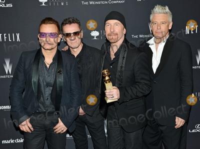 Adam Clayton Photo - 12 January 2014 - Beverly Hills California - U2s Bono Larry Mullen Jr The Edge and Adam Clayton Weinstein Company and Netflix 2014 Golden Globes After Party held at the Beverly Hilton Hotel Photo Credit Christine ChewAdMedia