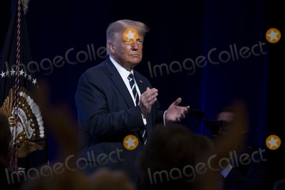 RITZ CARLTON Photo - United States President Donald J Trump after he gave remarks at the 2020 Council for National Policy Meeting at the Ritz Carlton in Arlington VA on Thursday August 20 2020  Credit Tasos Katopodis  Pool via CNPAdMedia