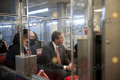 Train Photo - Defense lawyer for former President Donald J Trump Bruce Castor sits in a Senate subway train car after the US Senate voted 57-43 to acquit former President Donald J Trump on an impeachment charge of inciting the attack on the US Capitol on January 6 202 at the US Capitol in Washington DC Saturday February 13 2021 Credit Rod Lamkey  CNPAdMedia