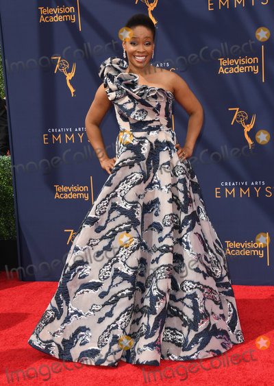 Amber Ruffin Photo - 09 September 2018 - Los Angeles California - Amber Ruffin 2018 Creative Arts Emmy Awards - Arrivals held at Microsoft Theater Photo Credit Birdie ThompsonAdMedia