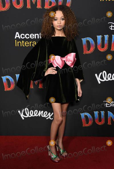 Nico Paker Photo - 11 March 2019 - Hollywood California - Nico Paker Dumbo Los Angeles Premiere held at Ray Dolby Ballroom Photo Credit Birdie ThompsonAdMedia