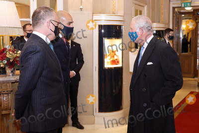 The Ritz Photo - 10th December 2020 - Prince Charles Prince of Wales speaks to staff during a visit to The Ritz London in support of the hospitality sector in London Photo Credit ALPRAdMedia