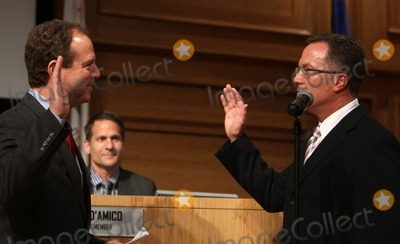 Adam Schiff Photo - 16 April 2012 - West Hollywood California - Congressman Adam Schiff Weho Mayor Jeffrey Prank Jeff Prang and Abbe Land West Hollywood New mayor  Mayor pro term Sworn in Ceremony during council meeting Held at WEHO Council chambers Photo Credit Faye SadouAdMedia